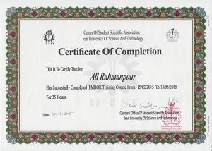 PmBoK Certificate